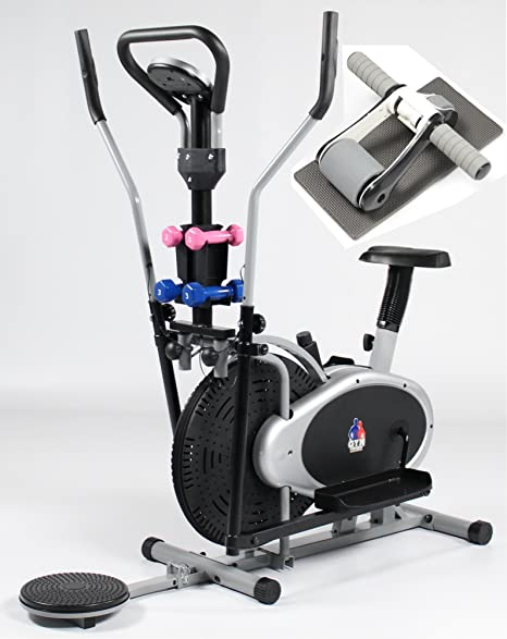 Gym Master 4 en 1 elíptica bicicleta estática y elíptica con AB ...
