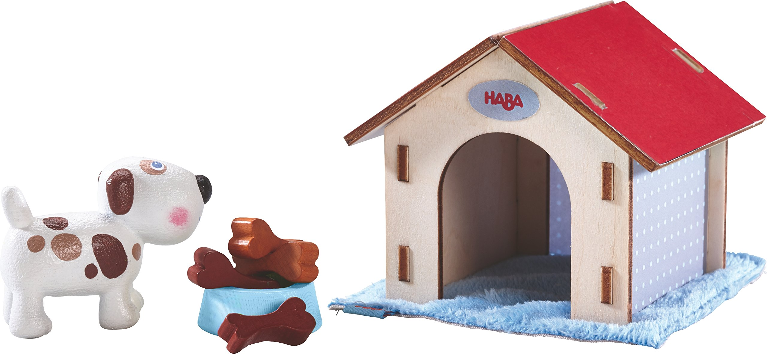 HABA Little Friends Dog Lucky with Doghouse & Wooden Bones