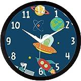 IT2M 11.75 Inch - Kids' Wall Clock- Spacecraft (9117)