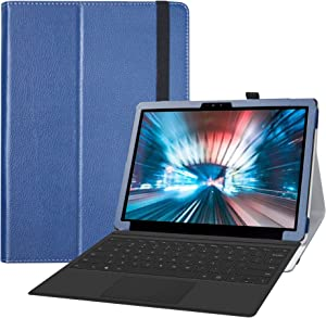 LiuShan Compatible with Dell Latitude 7200 Tablet Case,PU Leather Slim Folding Stand Cover for 12.3
