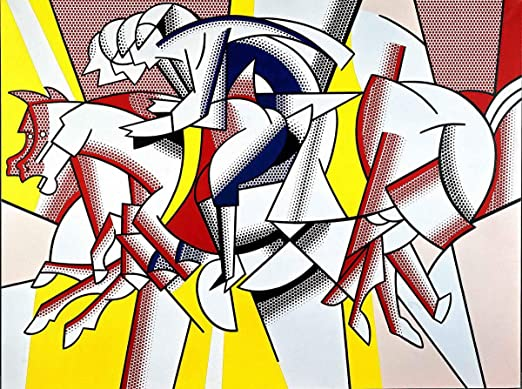 Roy Lichtenstein Red and Yellow Giclee Canvas Print Paintings Poster Reproductio