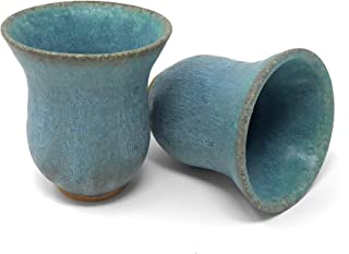 product image for Dock 6 Pottery Sake Cup, Turquoise, Set of 2