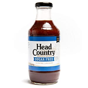 Head Country Sugar Free BBQ Sauce, 20 Fluid Ounce (Pack of 6)
