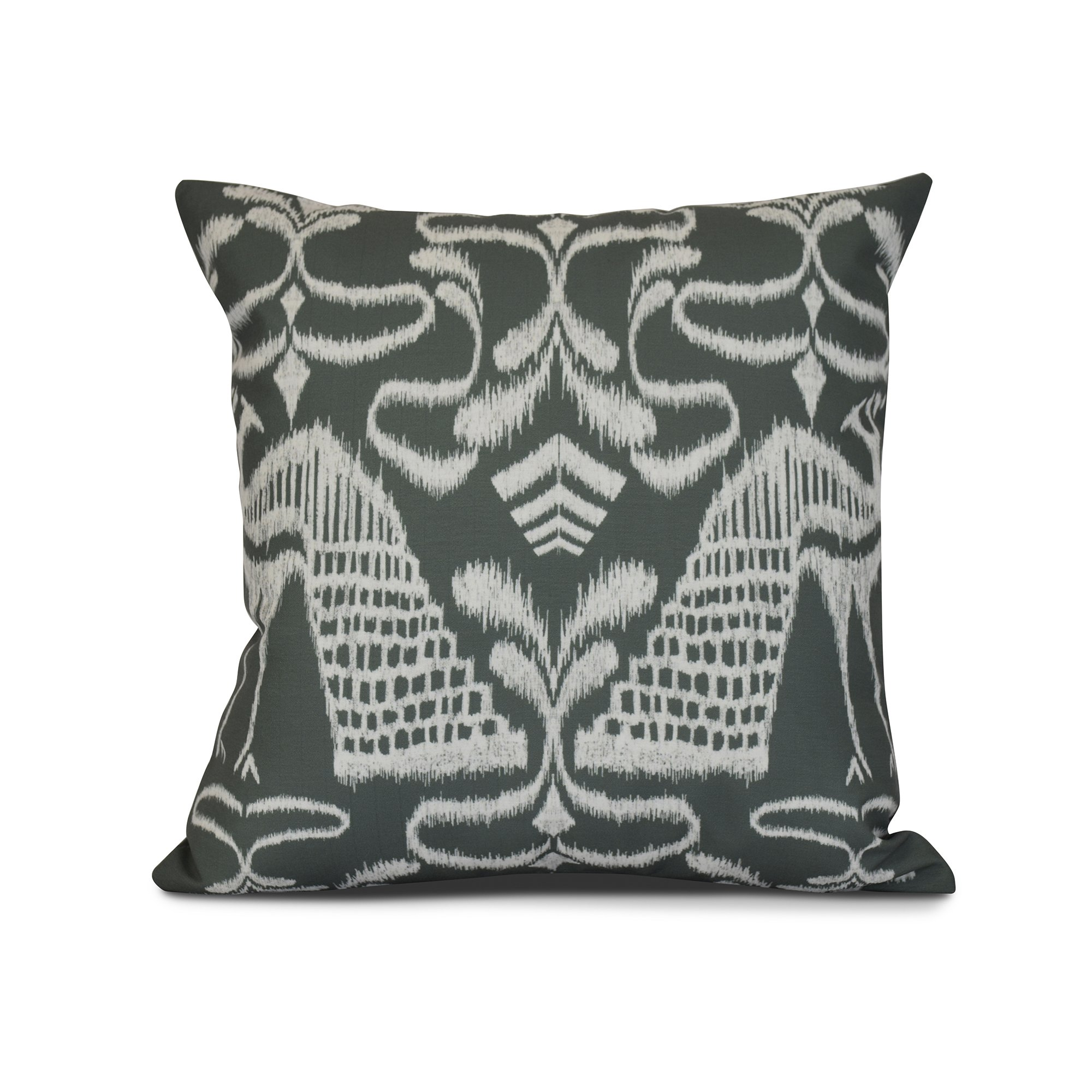 E by design Crown Animal Print Outdoor Pillow, 18 x 18, Gray