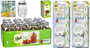 jar drinking glasses bundle u003d ball regular mouth pint jars with lids and bands set - Mason Jar Drinking Glasses