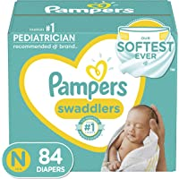 Diapers Newborn/Size 0 (< 10 lb), 84 Count - Pampers Swaddlers Disposable Baby Diapers, Super Pack (Packaging May Vary)