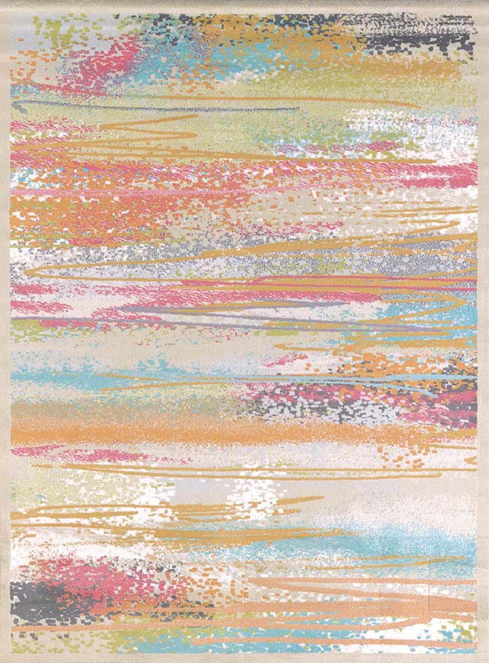 United Weavers of America Urban Galleries Collection Painted Horizons Rug, 5'3'' x 7'2'', Natural