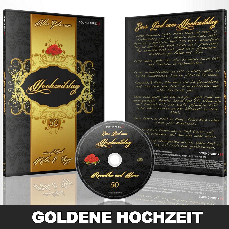 Personalisiertes Lied Zur Goldenen Hochzeit Geschenk Cd Gesungen Mit Den Vornamen Des Ehepaares Und Einem Persönlichen Introtext Ideal Als