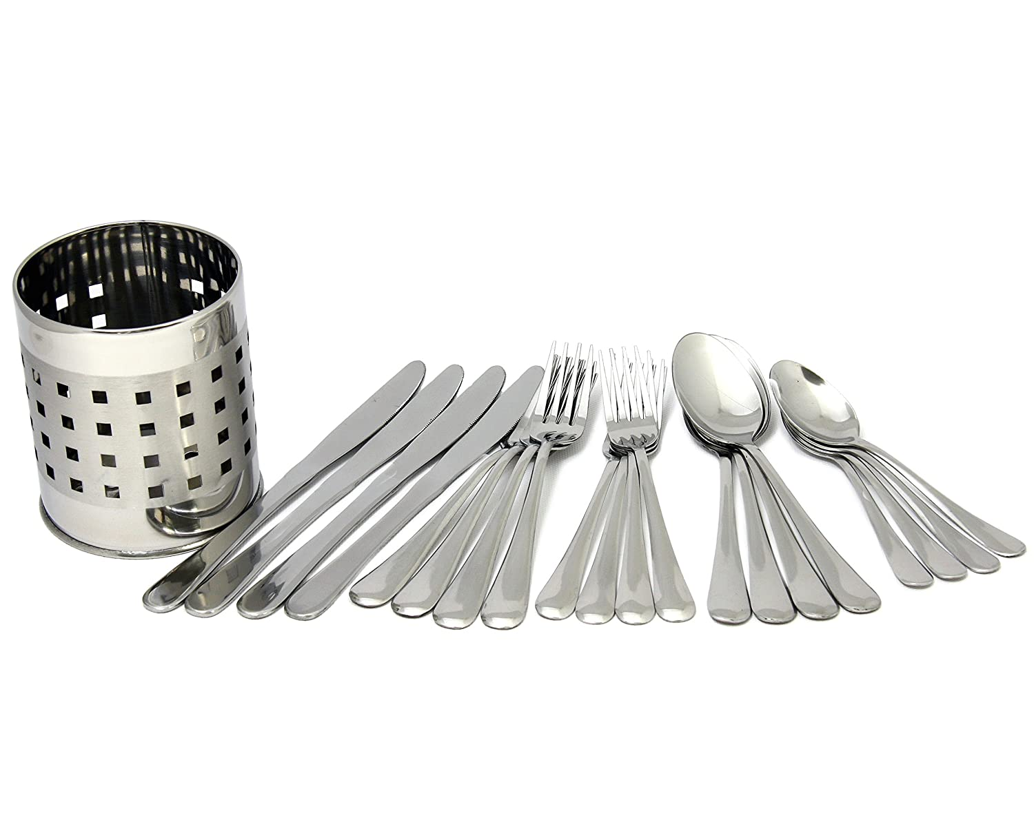 Chef Craft 21710 21710 Flatware Set With Holder Silver 20763