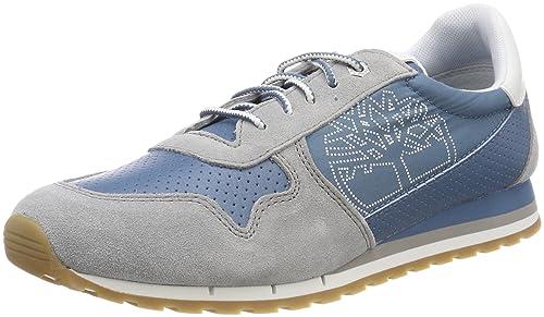 Timberland Milan Flavor Sneaker, Zapatos de Cordones Oxford para Mujer, Blanco (Oatmeal/White L06), 38 EU