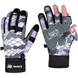 RUNCL Fishing Gloves Winter Warm RAGUEL, Touchscreen Outdoor Fishing Gloves, Neoprene 3 Cut Fingers Cycling Gloves…