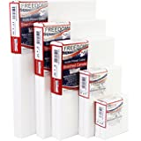 US Art Supply Multi-pack 2-Ea of 4x4, 5x7, 8x10, 9x12, 11x14. Professional Quality SMALL 12oz Primed Gesso Artist Stretched Canvas