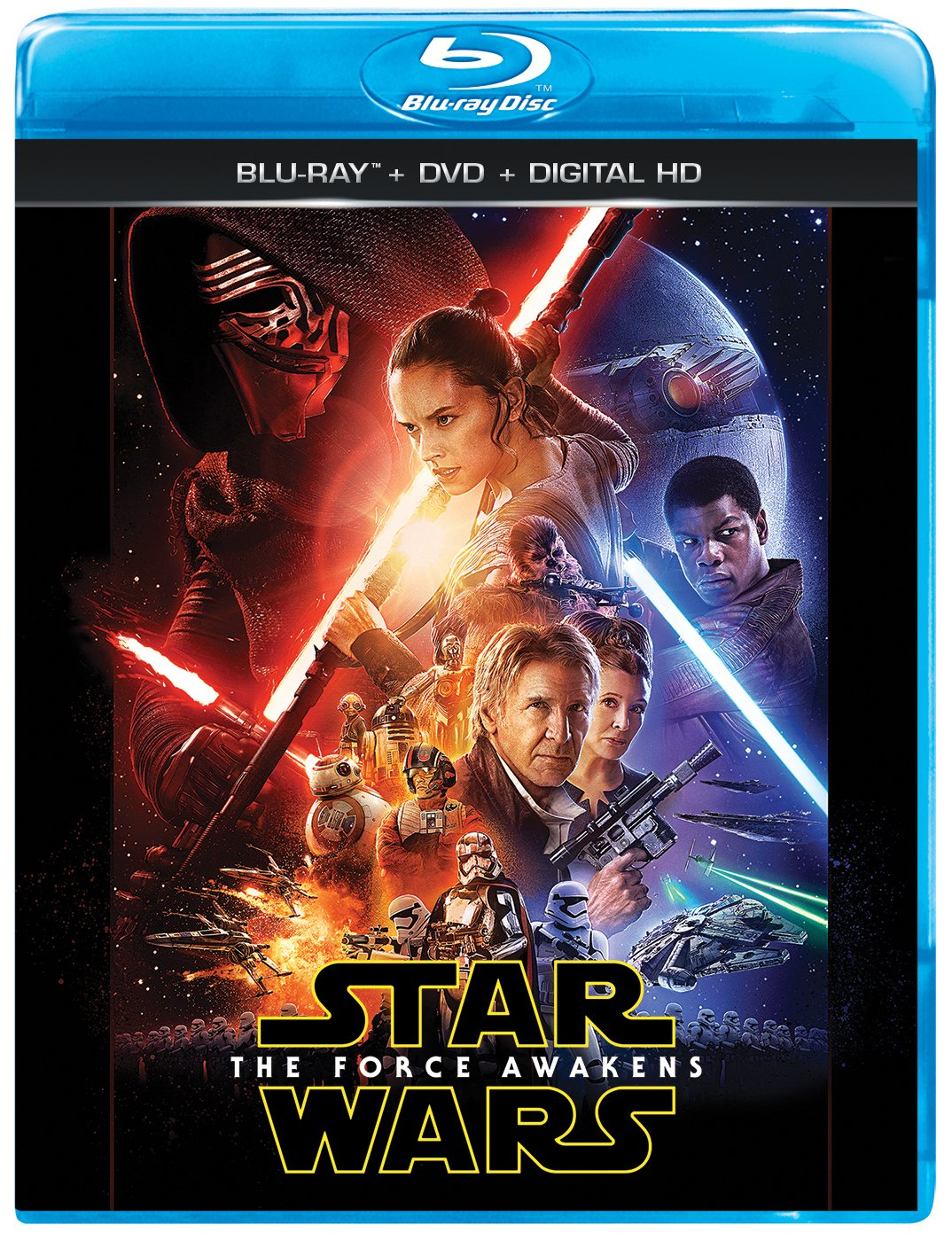 Lovely Amazon.com: Star Wars: The Force Awakens (Blu Ray/DVD/Digital HD): Harrison  Ford, Mark Hamill, Carrie Fisher, Adam Driver, Daisy Ridley, John Boyega,  ...