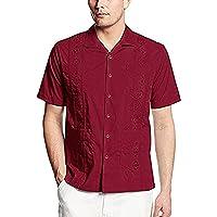Camisa de vestido Casual de guayabera los hombres