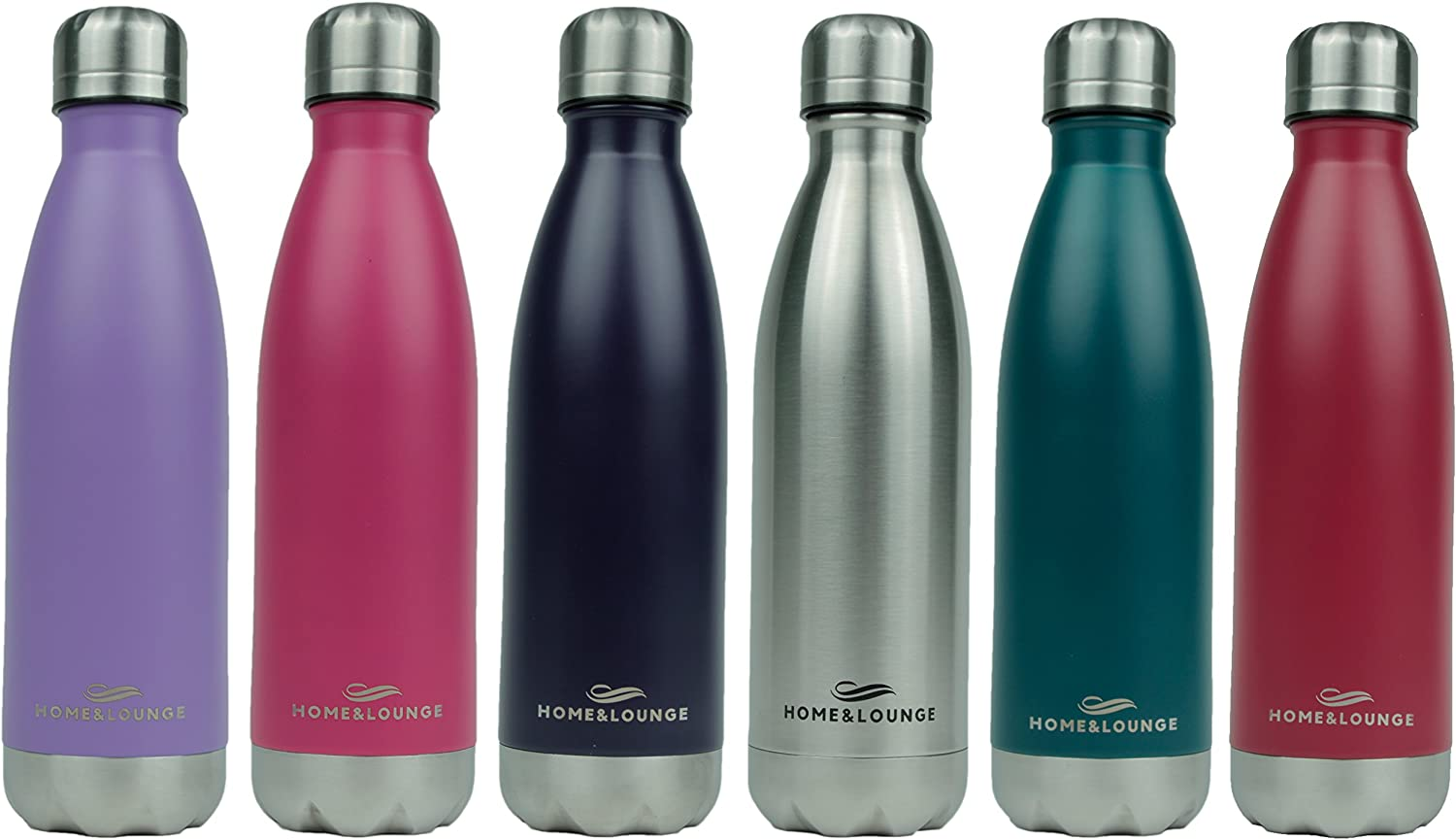 HOME & LOUNGE Water Bottles Stainless Steel - Durable and Dependable with Leak Proof - Made from Eco-Friendly Material