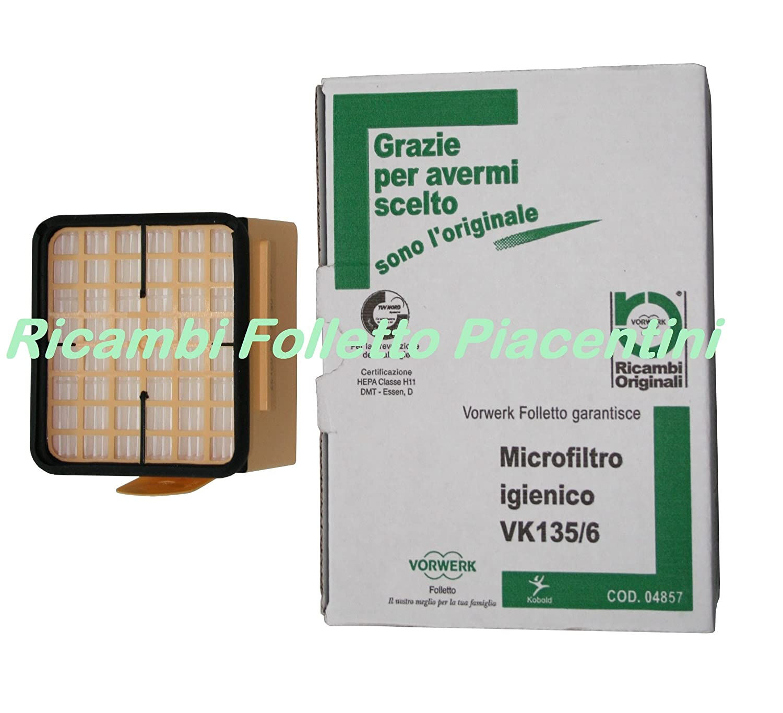 Vorwerk Microfiltro Igienico Folletto Aspirapolvere VK135 VK136 ORIGINALE