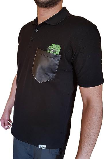 Umad Bro? - Polo - Básico - con Botones - para Hombre Negro Negro ...