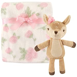 Hudson Baby Unisex Baby Plush Blanket with Toy, Deer 2 Piece, One Size