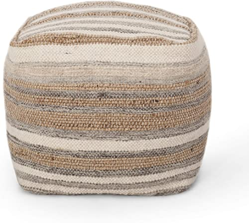 Christopher Knight Home Vensel Handcrafted Boho Fabric Cube Pouf