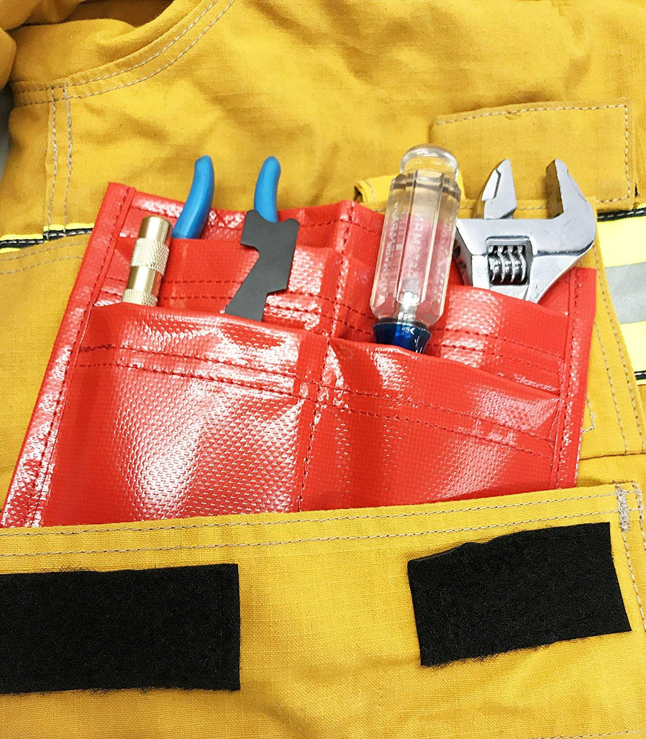 Firefighter Tool Pouch 4-Pocket Tool Holder - Fits inside Turnout-Bunker Pockets