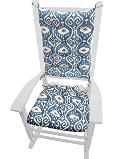 Rocking Chair Cushions   Bali Blue Ikat   Seat Cushion And Back Rest    Latex Foam