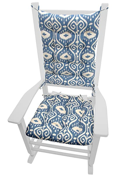 Ordinaire Barnett Products Rocking Chair Cushions   Bali Blue Ikat   Seat Cushion And  Back Rest