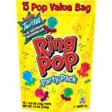 Ring Pops Individually Wrapped Bulk Variety Party Pack - 15 Count (Pack of 1) Candy Lollipop Suckers w/ Assorted Flavors…