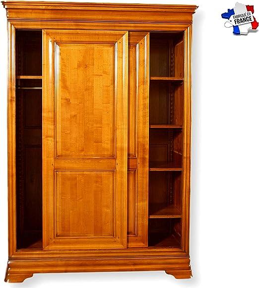 GONTIER Armario puertas correderas de madera maciza – 100 ...