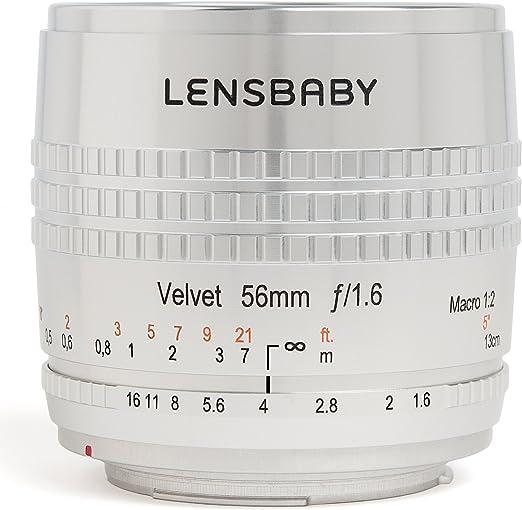 Lensbaby Velvet 56 Objektiv Für Canon Ef Silber Kamera