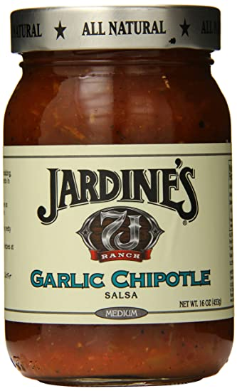 Jardines 7J Ranch Garlic Chipotle Salsa, Medium, 16 Ounce
