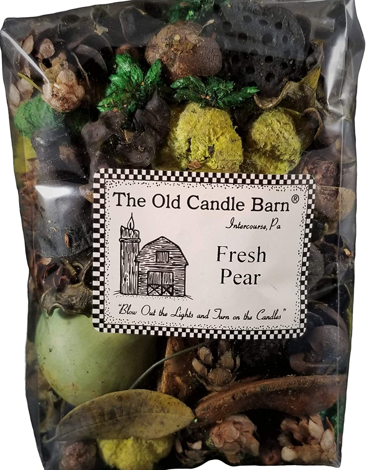 Old Candle Barn Fresh Pear Potpourri - Perfect For Spring, Summer, Fall, and Winter Decoration or Bowl Filler