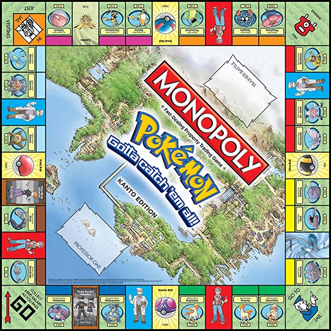 Monopoly: Pokmon - Kanto Region Edition - Inglés