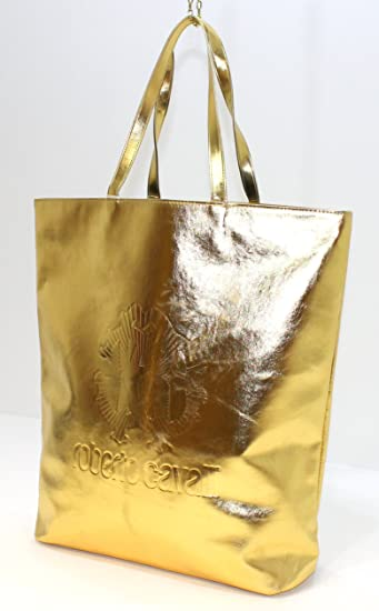 Roberto Cavalli Gold Tote Beach Bag: Amazon.co.uk: Beauty