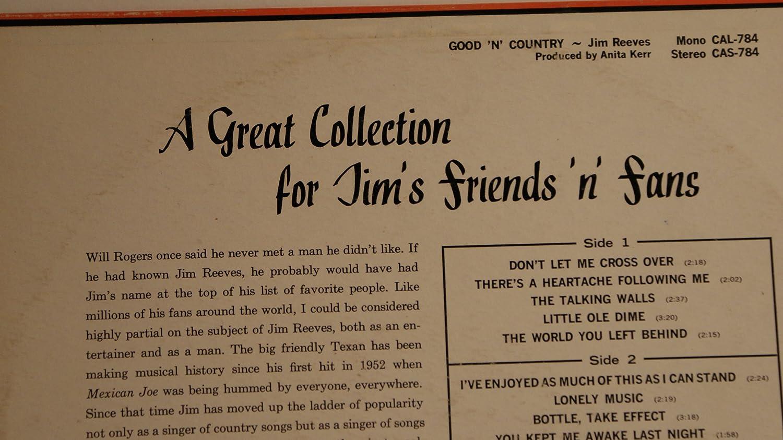 JIM REEVES - good \'n\' country RCA CAMDEN 784 (LP vinyl record ...
