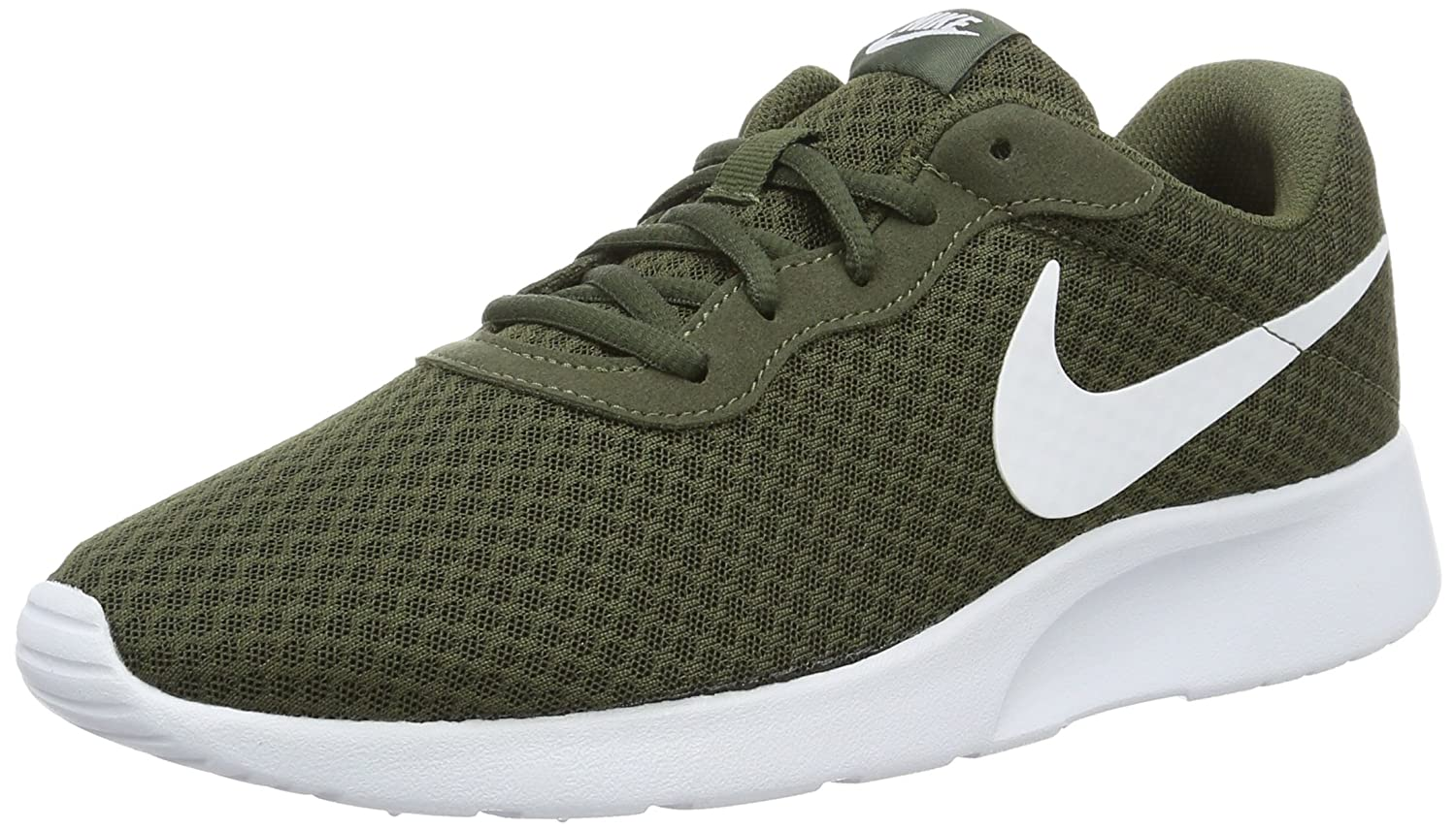 NIKE Men's Tanjun Sneakers, Breathable Textile Uppers and Comfortable Lightweight Cushioning B018Z0T6EM 10.5 D(M) US|Cargo Khaki/White