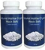 2x Natural Halite Crystal Rock Salt 220 Grams