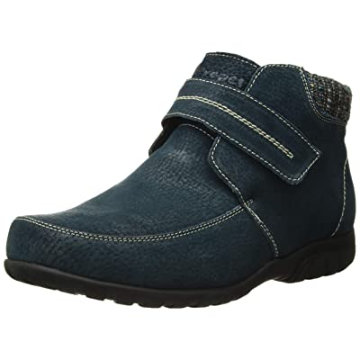 Propet Women's Delaney Strap Ankle Boot, Navy, 7 2X-Wide   Ankle & Bootie