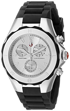 91c49b227573d Image Unavailable. Image not available for. Color  MICHELE Tahitian Jelly  Bean Large Black Stainless Steel Dial