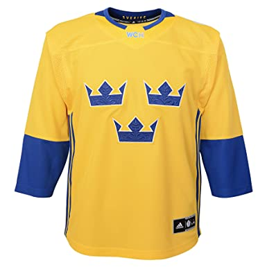 93fb369b4b0 adidas Sweden World Cup of Hockey Youth Yellow Premier Jersey (Youth (L/XL