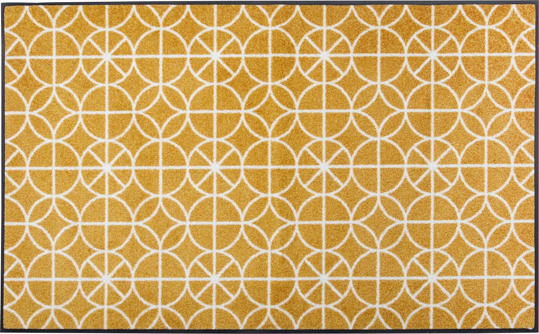 Wash+dry Fußmatte gelb Größe 60x180 cm