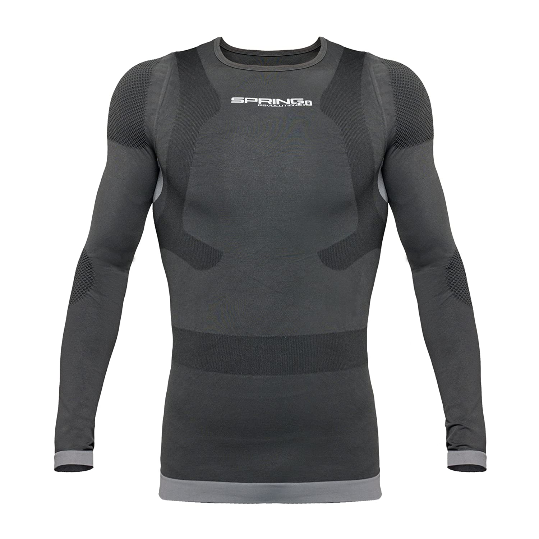 Spring Revolution 2.0, MÄNNER Langarm POSTURAL Shirt (Nr. 53/W) MIT Kompression, Kompressionsshirt, Haltungsshirt, Postureshirt mit 81% Merinowolle