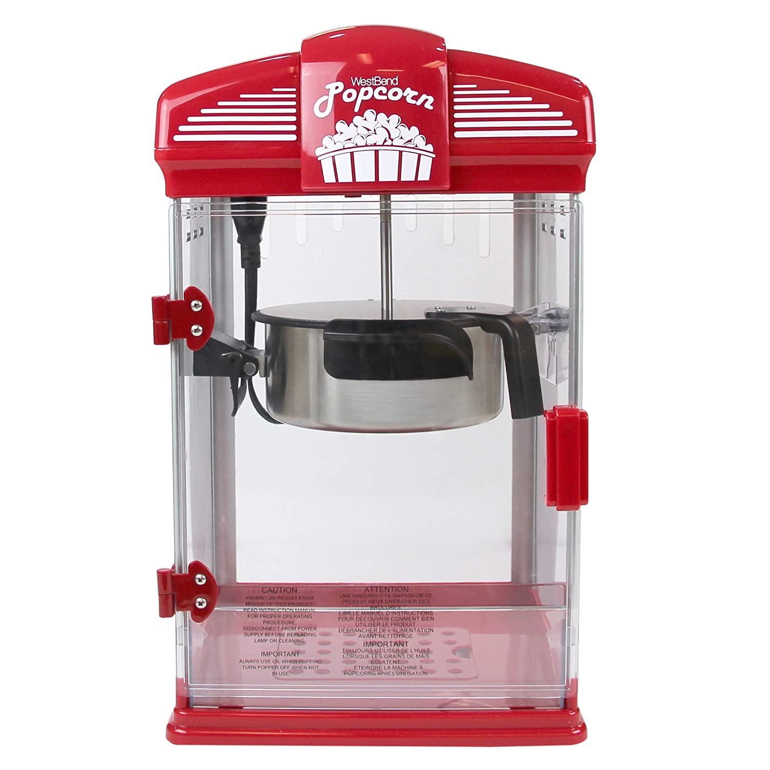 Amazon West Bend 82515 Hot Oil Theater Style Popcorn Popper