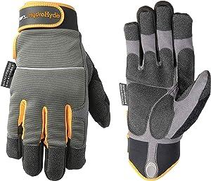 Men's HydraHyde Winter Work Gloves, Waterproof Insert, 40-gram Thinsulate, Large (Wells Lamont 7739L)