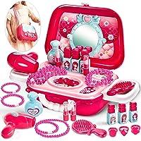 BUYGER Maquillaje Juguetes Niñas Maletin Belleza Tocador Set Joyería Peluqueria Princesa Kit Cumpleaños Navidad Regalo…