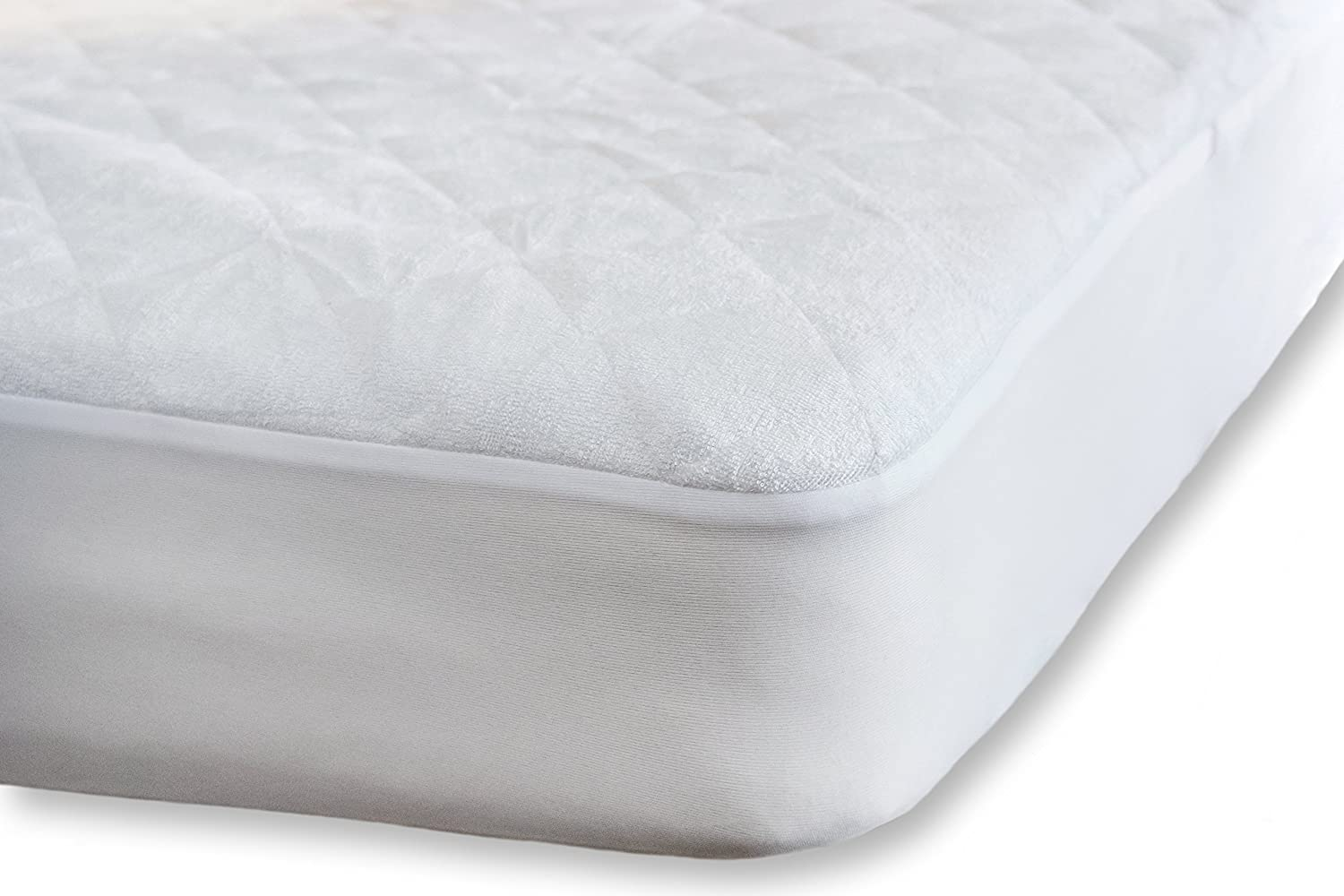 Waterproof Fitted Crib Mattress Protector - Washable Organic Bamboo Terry Crib Mattress Pad - Noiseless, Breathable & Hypoallergenic Crib Mattress Cover for Potty Training Toddlers & Infant Cribs Mayflowers