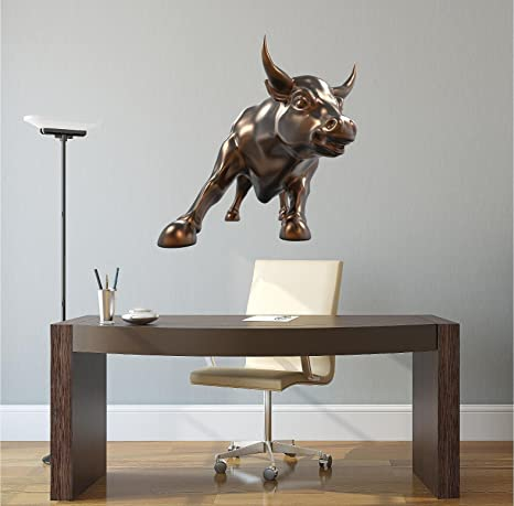Amazon Com 36 Wall Street Bull Wall Sticker Decal Graphic Art