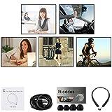 Rioddas Wireless Headphones Retractable Earbuds