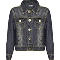 Kids Boys Denim Jackets Designer Black Jeans Jacket Fashion Coat New Age 3-13 Yr