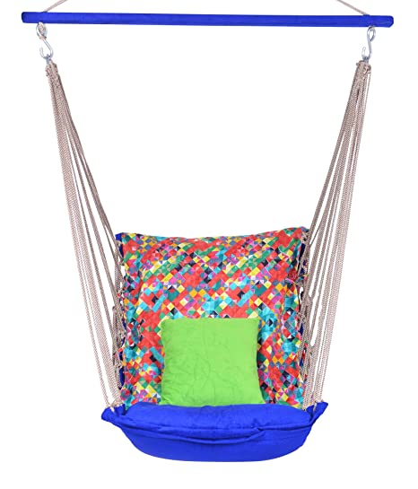 EA Comfortable Multi Colored Cotton Swing Jhula for Adults