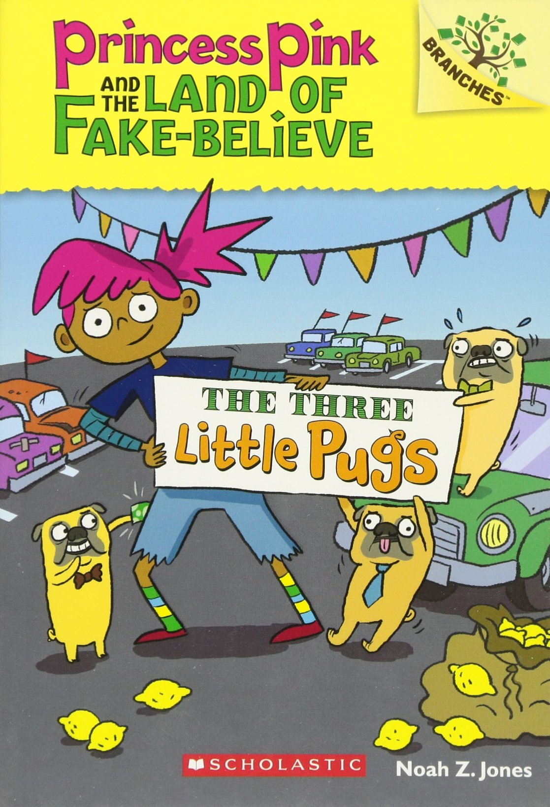 Download The Three Little Pugs: A Branches Book (Princess Pink and the Land of Fake-Believe #3) pdf epub